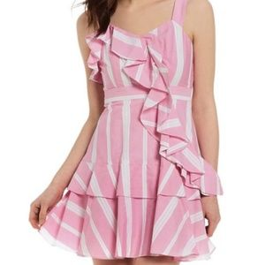 Gianni Bini: Rose Strip Ruffle Dress *NEVER WORN*